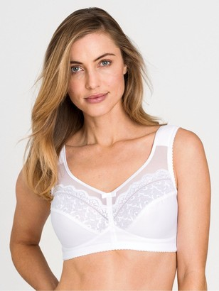 Miss Mary Of Sweden Happy Hearts None Wired Bra With Lace And Mesh - White