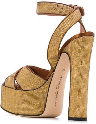 Marco De Vincenzo Embellished Platform Sandals