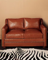 Old Hickory Tannery Leather Ottoman