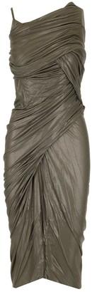 Rick Owens Ruched Midi Dress