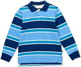 E-Land Kids Blue Bird Stripe Polo - Toddler & Boys