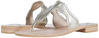 Jack Rogers Jackie Sandal (Platinum) Women's Shoes