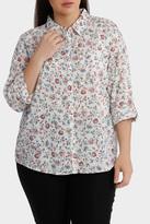 Printed Cotton 3/4 Sleeve Shirt