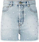 Alexandre Vauthier faded rhinestone studded shorts