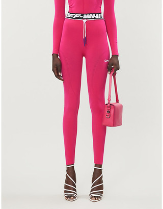 Off-White Active logo-print high-rise stretch-jersey leggings