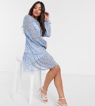 Miss Selfridge Petite smock dress in blue floral