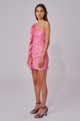 C/Meo AS IT GOES DRESS pink sequin