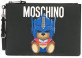 Moschino Transformer bear large clutch