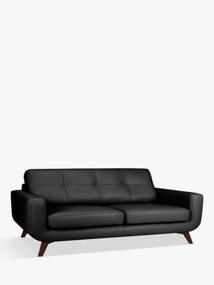 John Lewis & Partners Barbican Grand 4 Seater Leather Sofa, Dark Leg