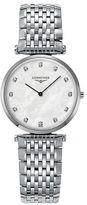 Mother of Pearl Longines Mother-of-Pearl Stainless Steel Diamond-Marker Analog Watch