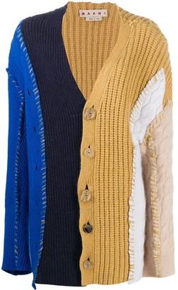 Marni Multi-Panel Colour-Block Cardigan