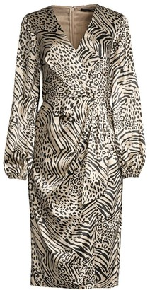 Jay Godfrey Long-Sleeve Tie-Front Midi Dress