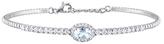 Rina Limor Fine Jewelry 14K White Gold, Aquamarine & 0.63 Total Ct. Diamond Bracelet