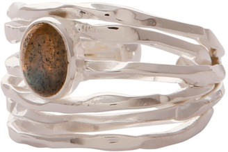 Carousel Jewels Silver Nest Ring with Labradorite