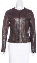Vince Leather Fitted Jacket