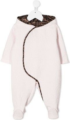 Fendi Kids FF seersucker pajamas