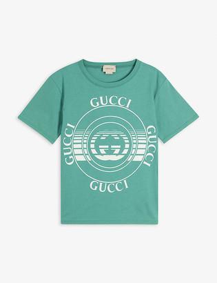 Gucci Brand-print cotton T-shirt 4-10 years