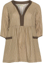 Isolde Roth Plus Size Polka dot print tunic