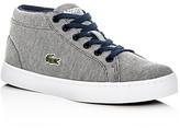 Lacoste Boys' Straightset Knit Chukka Mid Top Sneakers - Little Kid, Big Kid