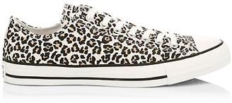Converse Chuck Taylor All Star Leopard-Print Canvas Low-Top Sneakers