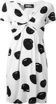 Jeremy Scott twist detail printed dress - women - Silk/Spandex/Elastane - 38