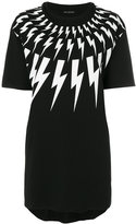Neil Barrett lightning print T-shirt - women - Cotton - XXS