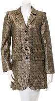 Marc Jacobs Long Sleeve Chevron Coat