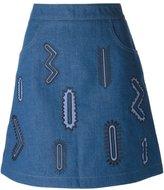 Stella McCartney 'Zigarette' denim skirt