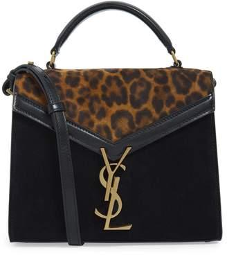 Saint Laurent Mini Leather Cassandra Top-Handle Bag