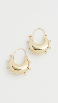 Luv Aj The Studded Mini Martina Hoops