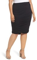 Plus Size Women's Rebel Wilson X Angels Ruched Jersey Knit Skirt