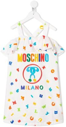 MOSCHINO BAMBINO Letter Print Logo Dress