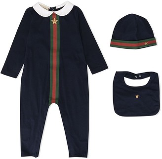 Gucci Kids Web stripe romper set