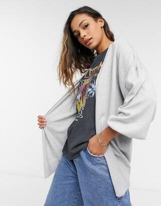 ASOS DESIGN longline fine knit cardigan
