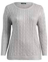 Ralph Lauren Cable Cotton-Blend Sweater Sterling Silver 1X