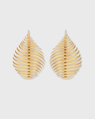 Fernando Jorge Flame Earrings in 18k Yellow Gold