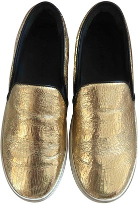 Celine Pull On Gold Leather Trainers