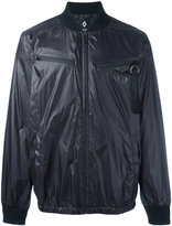Marcelo Burlon County of Milan zip detail bomber jacket - men - Cotton/Polyamide - XS