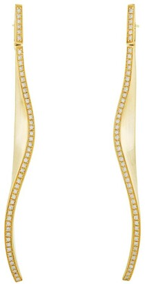 H.Stern Yellow Gold And Diamond Signature Hs Earrings