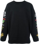 Off-White printed sleeve sweatshirt - men - Cotton/Polyester - L