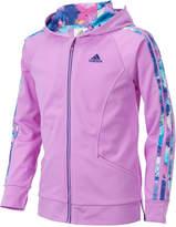 adidas Hooded Athletic Wear Jacket, Big Girls (7-16)