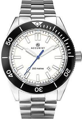 Accurist Mens Analogue Classic Quartz Watch with Solid Stainless Steel Strap 7271