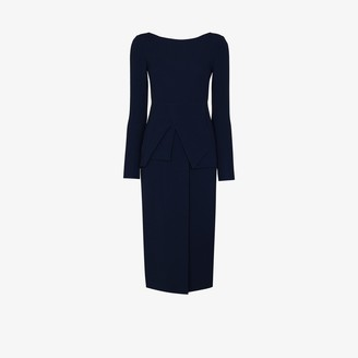 Roland Mouret Delphi fitted midi dress