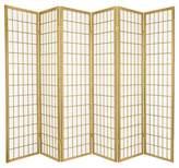 Oriental Furniture 6 ft. Tall Window Pane 6 Panels