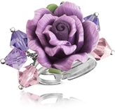 Dolci Gioie Sterling Silver Purple Rose Ring