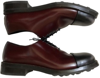 Prada Burgundy Leather Lace ups