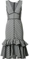 Tome sleeveless gingham dress - women - Silk - 0