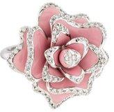 Roberto Coin 18K Diamond & Enamel Rose Cocktail Ring