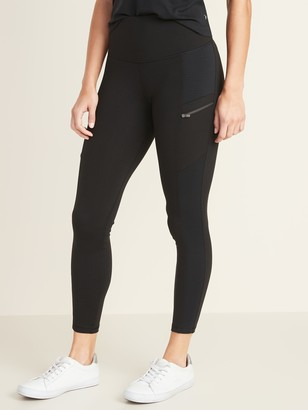 Old Navy High-Waisted Zip Pocket 7/8-Length Street Leggings For Women