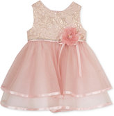 Rare Editions Baby Girls' Brocade-Top Dress